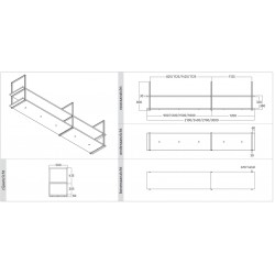 Wave Design 1056.86 FRAME motorloos - 300 cm zwart - RAL 9017 mat - 5 x 4,2 W dimbare LED 2700 Kelvin