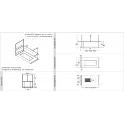 Wave Design 2052.00 FRAME midden  - 120 cm eilandmodel RVS - 2 x 4,2 W dimbare LED 2700 Kelvin