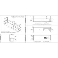 Wave Design 2054.01 FRAME rechts - 240 cm eilandmodel RVS - 4 x 4,2 W dimbare LED 2700 Kelvin