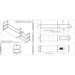 Wave Design 2056.03 FRAME rechts - 210 cm eilandmodel RVS - 4 x 4,2 W dimbare LED 2700 Kelvin