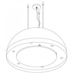 Wave Design 2176.23 afzuiglamp 120 cm - wit RAL 9016 mat - interne motor -  LED