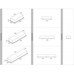 Wave Design 3683.12 inbouwunit 120 x 30 cm - RVS - motorloos - LED