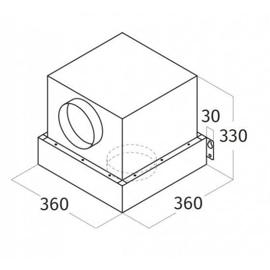 Wave Design afneembare interne motor - 840 m3 /h - 60 dBA - max. 275 W - afvoer ∅150 mm