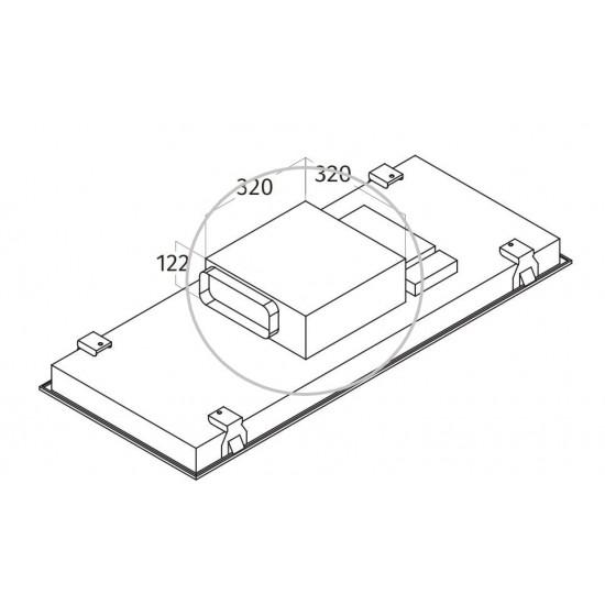 Wave Design extra platte interne motor - 970 m3/h - 67 dBA - max. 145 W - afvoer 230 x 80 mm
