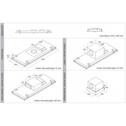 Wave Design 8231.11 plafondunit 120x50 cm - RVS - motorloos - LED