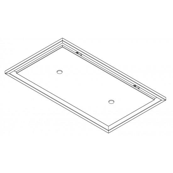 Wave Design 8231.31 plafondunit 90x50 cm - kleur naar keuze - mat/glanzend - motorloos - LED