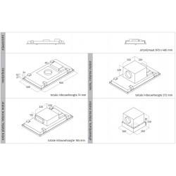 Wave Design 8231.10 plafondunit 90x50 cm - RVS - motorloos - LED