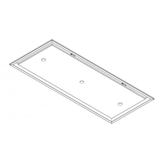 Wave Design 8683.32 plafondunit 120 x 50 cm - wit - RAL 9016 mat - motorloos - LED