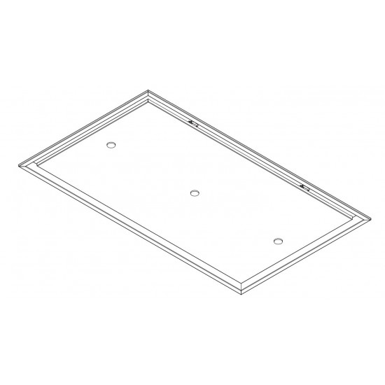 Wave Design 8673.29 recirculatie plafondunit 120 x 70 cm - wit - RAL 9016 mat - extra platte interne motor - LED