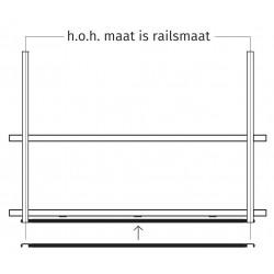 Wave Design 9992.01 rails 390 mm - RAL 9017 zwart