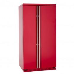 IOMABE ORGS2DBF6R 91cm Side-by-Side koelkast rood vrijstaand