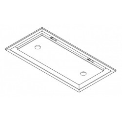 Wave Design 3663.31 inbouwunit 60 x 30 cm - kleur naar keuze - motorloos - LED