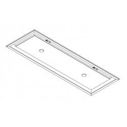 Wave Design 3663.32 inbouwunit 90 x 30 cm - wit RAL 9016 mat - motorloos - LED