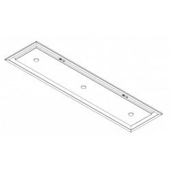 Wave Design 3663.12 inbouwunit 120 x 30 cm - RVS - motorloos - LED