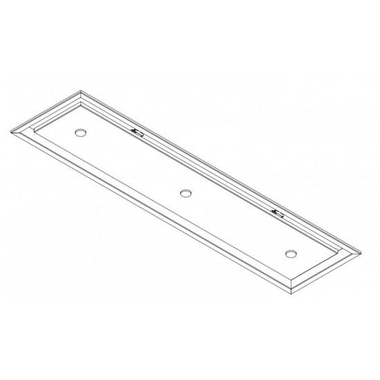 Wave Design 3683.34 inbouwunit 120 x 30 cm - wit - RAL 9016 mat - motorloos - LED