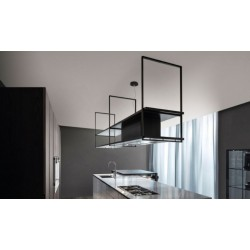 Wave Design 2055.21 FRAME links - 240 cm eilandafzuigkap - kleur naar keuze - mat/glanzend - interne motor - LED verlichting