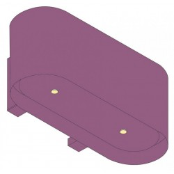 Wave Design 1119.21 90 cm wandafzuigkap - 1 kleur naar keuze - interne motor recirculatie - LED