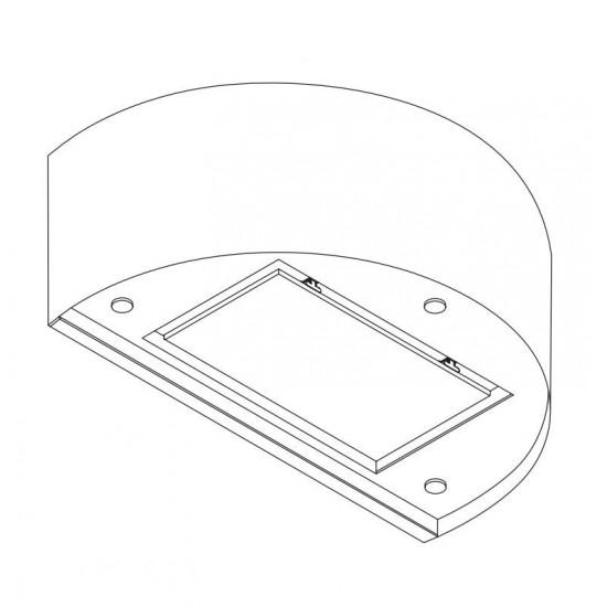 Wave Design 1620.20 wandafzuigkap 90 cm - wit - RAL 9016 mat - interne motor recirculatie - LED
