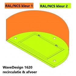 Wave Design 1620.32 wandafzuigkap 90 cm - 2 kleuren naar keuze - interne motor met afvoer naar buiten - LED