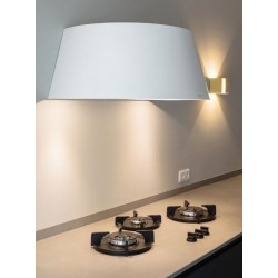 Wave Design 1627.20 wandafzuigkap 90 cm - wit - RAL 9016 mat - interne motor recirculatie - LED