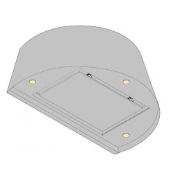 Wave Design 1627.10 wandafzuigkap 90 cm - RVS - interne motor met afvoer naar buiten - LED