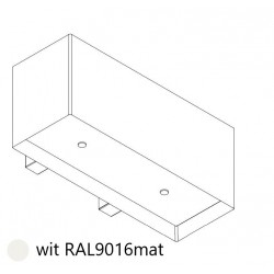 Wave Design 1120.20 90 cm wandafzuigkap - wit - RAL 9016 mat - interne motor recirculatie - LED