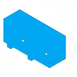 Wave Design 1120.21 90 cm wandafzuigkap - kleur naar keuze - interne motor recirculatie - LED