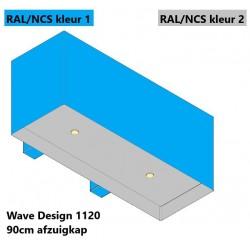 Wave Design 1120.22 90 cm wandafzuigkap - 2 kleuren naar keuze - interne motor recirculatie - LED