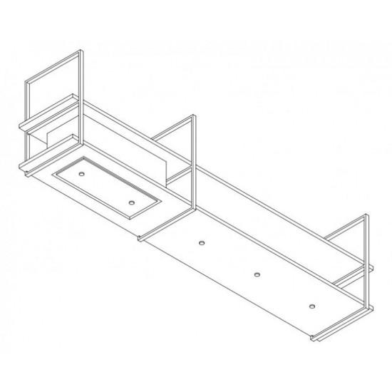 Wave Design 1055.22 FRAME links - 270 cm wandafzuigkap zwart - RAL 9017 mat - interne motor - LED verlichting