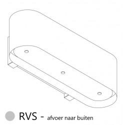Wave Design 1119.11 120 cm wandafzuigkap - RVS - motor met afvoer naar buiten - LED