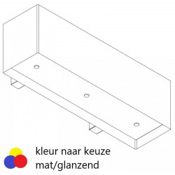 Wave Design 1120.24 120 cm wandafzuigkap - kleur naar keuze mat/glanzend - interne motor recirculatie - LED