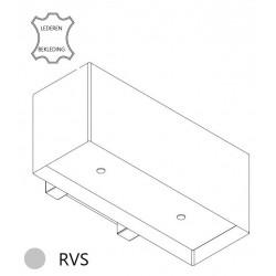 Wave Design 1120.50 90 cm wandafzuigkap - geschikt voor lederen bekleding - RVS - motor met afvoer naar buiten - LED