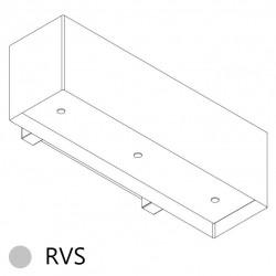 Wave Design 1120.11 120 cm wandafzuigkap - RVS - motor met afvoer naar buiten - LED