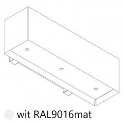 Wave Design 1120.33 120 cm wandafzuigkap - wit RAL 9016 mat - motor met afvoer naar buiten - LED