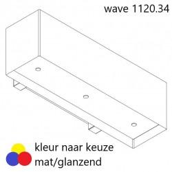Wave Design 1120.34 120 cm wandafzuigkap - kleur naar keuze - mat/glanzend - motor met afvoer naar buiten - LED