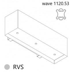 Wave Design 1120.53 120 cm wandafzuigkap - geschikt voor lederen bekleding - RVS - motor met afvoer naar buiten - LED