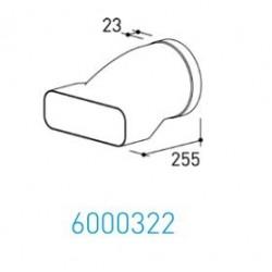 Wave Design 6000322 Afvoerkanalen vlak 150 Aansluitstuk van rond Ø 150 mm buiten naar vlak 230x80 mm buiten