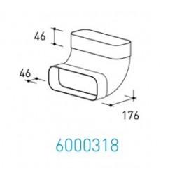 Wave Design 6000318 Afvoerkanalen vlak 150 90º Bocht loodrecht met mof 230 x 80 mm buiten