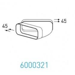 Wave Design 6000321 Afvoerkanalen vlak 150 45º Bocht horizontaal met mof 230 x 80 mm buiten