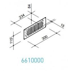 Wave Design 6610000 Afvoerkanalen vlak 150 RVS plintrooster t.b.v. rec.