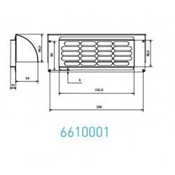 Wave Design 6610001 Afvoerkanalen vlak 150 RVS buitenmuur rooster