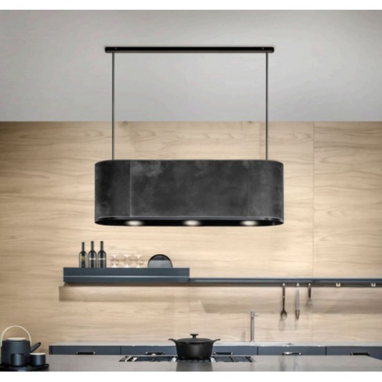 Wave Design 2119.00 - 90 cm eilandafzuigkap RVS - interne motor - LED verlichting