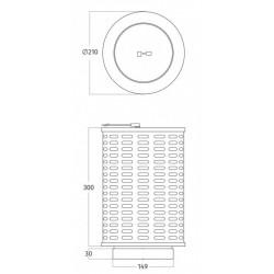 Wave Design 99202.02 - PlasmaMade GUC1214 - plasmafilter rond 15cm aansluiting