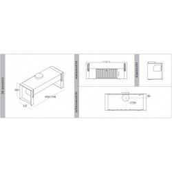 Wave Design 3757.10 Integraal/tussenbouw afzuigkap 90 cm - RVS - interne motor - LED verlichting