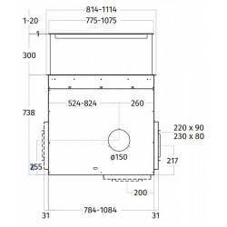 Wave Design 4700.14 Downdraft 82 cm - rvs - motorloos - LED