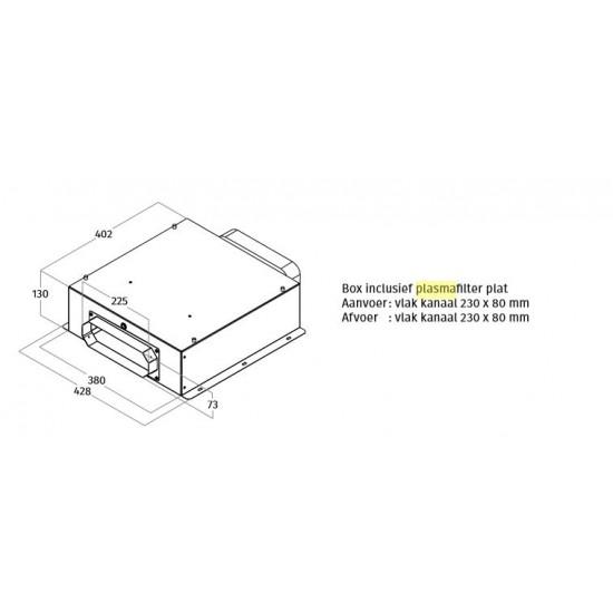 Wave Design 99202.16 platte box inclusief plat plasmafilter