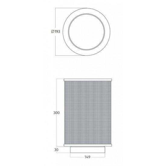 Wave Design 99202.27 koolstoffilter long-life rond