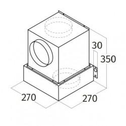 Wave Design 3663.10 inbouwunit 60 x 30 cm - RVS - motorloos - LED