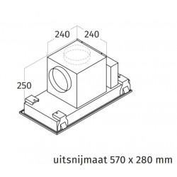 Wave Design 3663.30 inbouwunit 60 x 30 cm - wit RAL 9016 mat - motorloos - LED