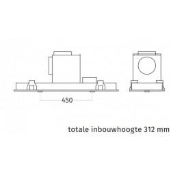 Wave Design 3663.11 inbouwunit 90 x 30 cm - RVS - motorloos - LED